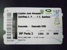Tickets- 2007/08 UEFA Cup 1/16 FINAL- NASCENTE v BANCADA CGD,