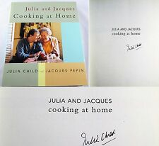 Julia and Jacques Cooking at Home SIGNED Autographed Julia Child Cookbook 1st ED