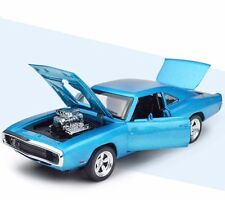 1:32 Dodge Diecast Toys Model Alloy Collection Toy F Kids Gift Toy W/Light Blue