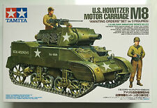 "Tamiya 35312 1/35 US Howitzer Motor Carriage M8 ""Awaiting Orders"" Model Kit NIB"