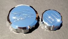 CHROME Suzuki K7 K8 GSX-R1000 Reservoir Cap Set - GSXR 2007 2008 Brake & Clutch