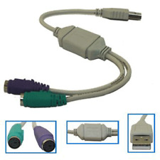 USB to Dual PS2 Active Adapter Keyboard & Mouse Cable Lead