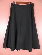 SK06259- JONES NEW YORK Woman Linen Polyester Full Skirt Ink Black Stretch Sz 10