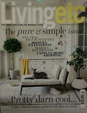 Living Etc Pure & Simple Issue Relaxed Ideas May 2015 FREE PRIORITY SHIPPING