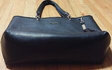 CALVIN KLEIN %100 AUTHENTIC GOLD EMBRASSED BLACK HAND SHOULDER BAG