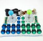Arcade diy Kit Parts USB Controller + LED Joystick + 20 Illuminated Buttons MAME