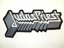 JUDAS PRIEST GRAY  AND WHITE LOGO       EMBROIDERED BACK PATCH