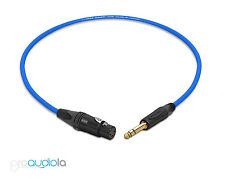 Canare Quad Cable L-4E6S | Neutrik Gold XLR-F TRS | Blue 1 Feet | 1 Ft. | 1'