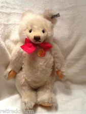 "❤STEIFF ORIGINAL TEDDY BEAR 16"" 0203/41 IDs JOINTED WHITE VNTAGE 1983-87 MOHAIR❤"