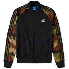 BNWT ADIDAS ORIGINALS SUPERSTAR RUN DMC TRACK TOP JACKET BLACK CAMO X-SMALL MEN