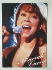 POSTCARD A1-5 MUSICIANS MARIAH CAREY - SINGING INTO A MIC