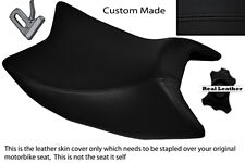 BLACK STITCH CUSTOM FITS DERBI GPR 125 50 SIDE EXHAUST 07-13  FRONT SEAT COVER