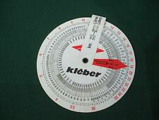 1970's NOS KLEBER MICHELIN GROUP  MILEAGE GUIDE Slide Chart GASOLINE Fuel Usage