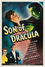 horror movie vintage poster SON OF DRACULA 1943 JON CHANEY collectors 24X36