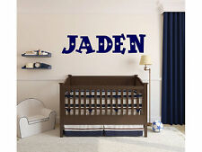 "Stars Outer Space Name Wall Decal Monogram Boys Nursery Room Vinyl 10"" Tall"