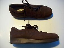 SAS Brown Nubuck Leather Oxfords Wedge Low Heel Loafers Shoes Size 8.5 @ cLOSeT