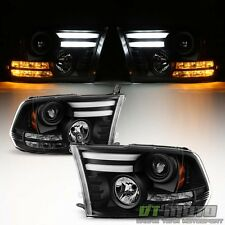 2009-2017 Dodge Ram 1500 2500 3500 LED Turn Lights DRL Tube Projector Headlights