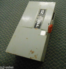 GENERAL ELECTRIC HEAVY DUTY 60AMP 600VAC ENCLOSURE CAT: TH3362