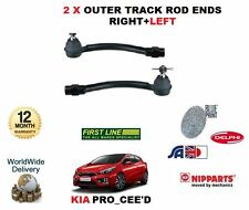 FOR KIA PRO CEED 1.4 1.6 PETROL 2012-  2 X OUTER TRACK TIE ROD ENDS LEFT + RIGHT