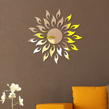 New 3D Sunflower Mirror Tile Decal Sticker Wall Art Craft Acrylic Self Adhesive