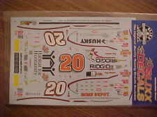 """2001 TONY STEWART #20 HOME DEPOT """"HABITAT FOR HUMANITY"""" 1/24 WATER SLIDE DECAL"""