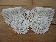 Lace collar white hand made cotton tape lace girls child traditional vintage NEW