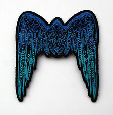 SMALL ANGEL WINGS IRON ON PATCH BULE CUSTOM HAT PIN UP USA AMERICA COLLECTORS