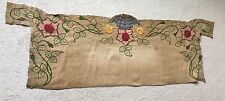 Antique vintage art deco tapestry embroidery linen silk sofa bed table cover