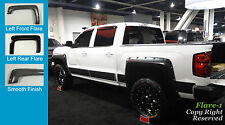 FENDER FLARES RIVET Style 2014-2016 Chevrolet Silverado 1500 SMOOTH PAINTABLE