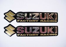 3D gold / chrome SUZUKI stickers decal - set of 2 pieces