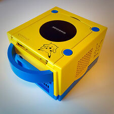 POKEMON PIKACHU a tema GAMECUBE BUNDLE (PAL) CUSTOM RETRO CONSOLE