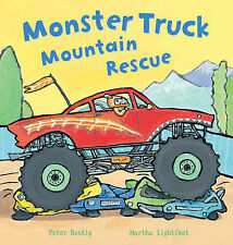 BUSY WHEELS BOOKS ~ MONSTER TRUCK MOUNTAIN RESCUE by PETER BENTLY ~ Pre School