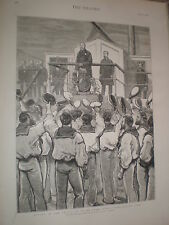 Goodbye my lads Prince of Wales leaves HMS Serapis 1876 print ref V
