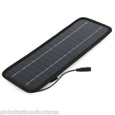 4.5W 12V Solar Panel Car Battery Charger Black Outdoor Camping Hiking Necessary