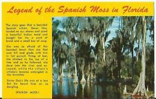Legend of the Spanish Moss in Florida - one of nature's wonders  postcard