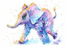 Watercolour Painting BABY ELEPHANT TASTIC by Sophie Appleton replica of Original