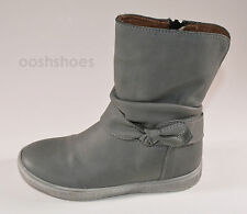 Noel Girls Josy Grey Short Leather Zip Boots UK 13 EU 32 US 13.5