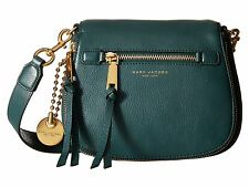NWT Marc Jacobs Recruit Small Saddle Bag GREEN Leather Gold Tone Hardware