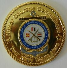 US Navy Naval Recruit Training Command Great Lakes IL Commander's Challenge Coin