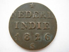 Netherlands East Indies 1826 copper 1/4 Stuiver.