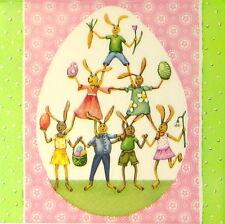 4x tableau unique fête serviettes en papier pour découpage decopatch craft pâques