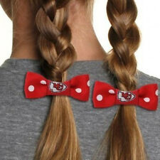 Kansas City Chiefs 2pk Bow Pigtail Holder