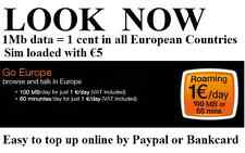 NEW! EUROPE Data Sim European Union Internet ORANGE SIM CARD 500MB (€5 included)