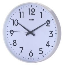 "UNITY FRADLEY SILENT SWEEP NON-TICKING WALL CLOCK 12"" 30CM"