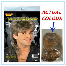 12 X MULLET NOVELTY HAIR WIG - SANDY BLONDE COLOUR COLOR - ADULT PARTY CUSTOM A