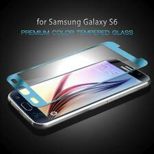BLUE COLOR MIRROR TEMPER GLASS LCD SCREEN PROTECTOR FOR SAMSUNG GALAXY S6 G920