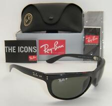 RAY BAN WRAP BLACK FRAME GREEN POLARIZED RB 4089 BALORAMA 601/58 62mm