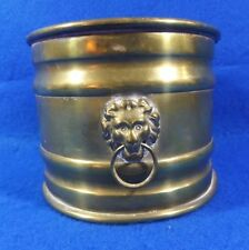 "VINTAGE HAMMERED BRASS COAL AND ASH SCUTTLE BUCKET ""FREE SHIPPING"""