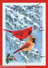 "Christmas Red Birds Greetings Cardinal Cards buy individually 4 1/4"" x 6 1/4"""