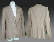 NEXT Woman Tailored Suit Jacket Beige Polyester No pattern Size 8